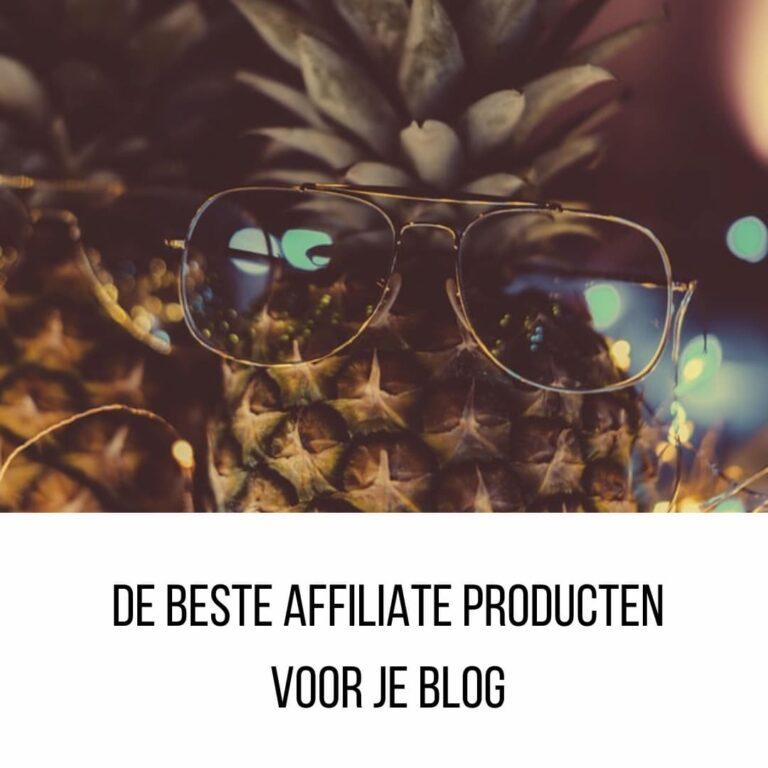 Hoe kies je de beste affiliate producten voor je blog?