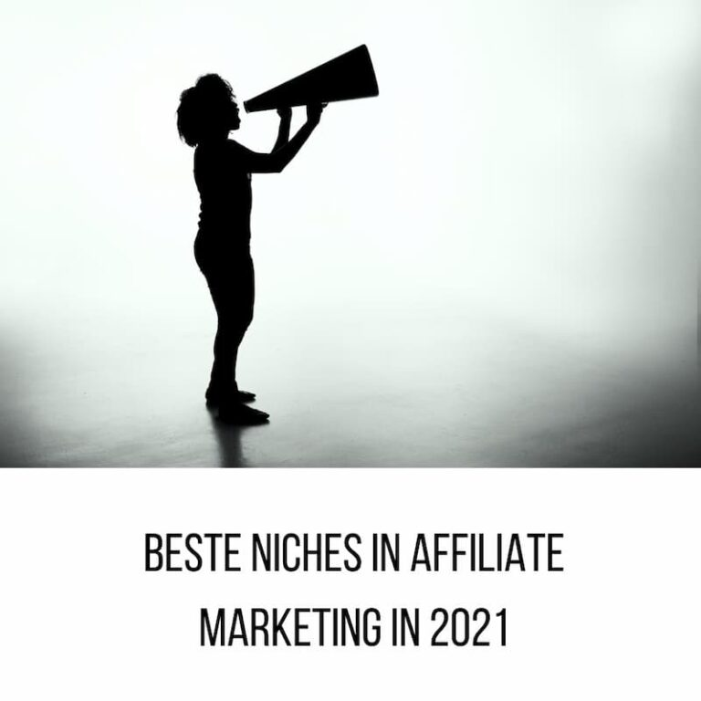 Beste niches in affiliate marketing in 2021